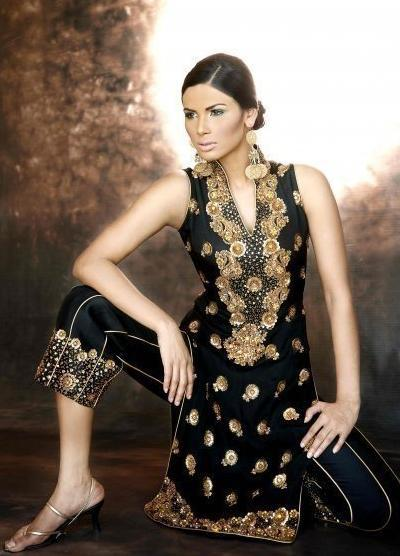 Black-Designer-Beautiful-Salwar-Kameez-Dresses-Collection-2013-05