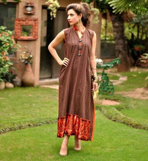 Stylish-Women-Semi-Formal-Long-Shirts-By-Andaaz-Pret