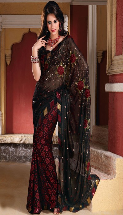 elegant-black-saree-trend-2012