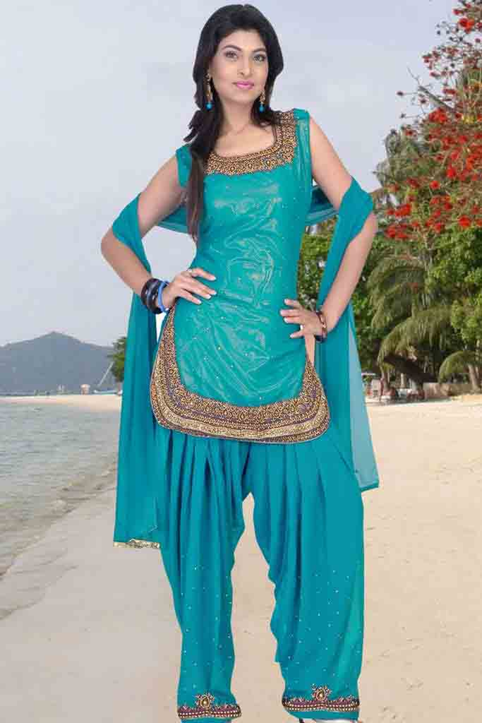 Patiala salwar kameez girls mag for Girls suit design