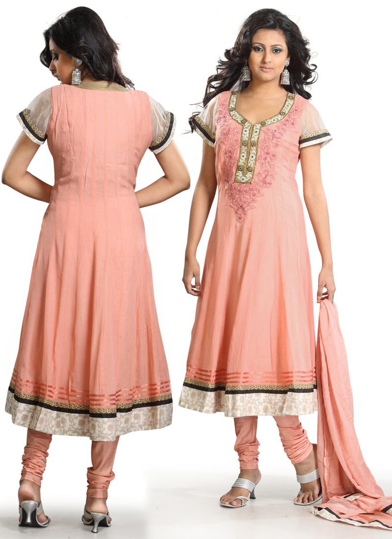 Peach-Pure-Georgette-Anarkali-Suit