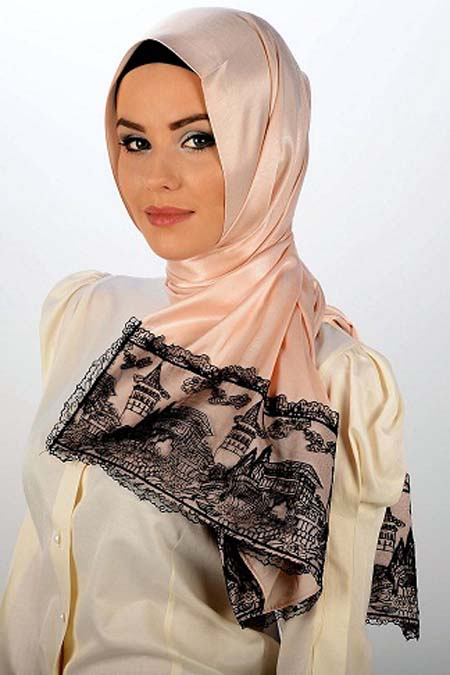 Fashionable-Arabic-scarf-for-girls-2013