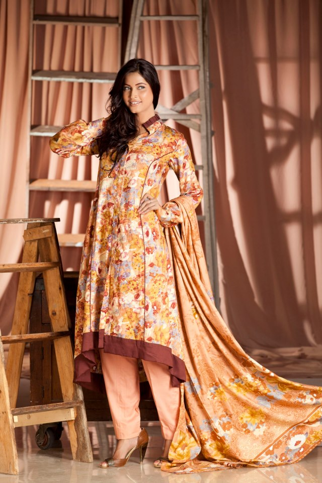 Firdous Paris Linen Collection For Winter 2012-2013 - 5