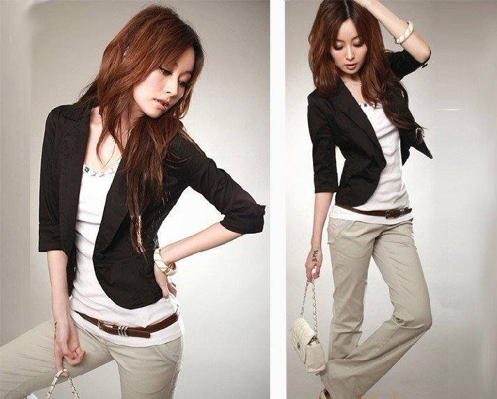 Free-Shipping-fashion-women-Korean-style-Suits-a-button-Slim-small-suit-coat-jacket-retail-promotion