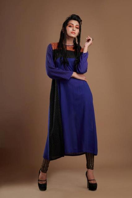 Contrast-Fall-Winter-Dresses-For-Girls-2013-3
