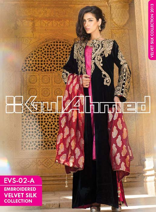 Embroidered-Silk-Velvet-Coats-Collection-2014-by-Gul-Ahmed-10