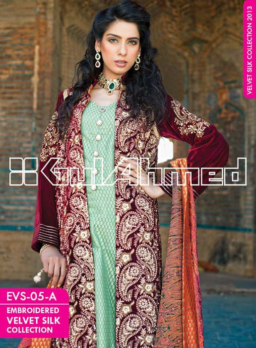 Embroidered-Silk-Velvet-Coats-Collection-2014-by-Gul-Ahmed-12