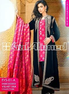 Gul Ahmed Embroidered Silk Velvet Coats - www.dekhofashion.com (3)