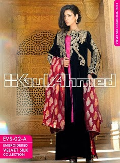 Gul Ahmed Embroidered Silk Velvet Coats - www.dekhofashion.com (5)