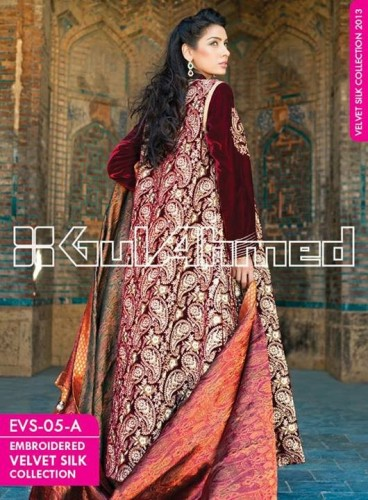 Gul-Ahmed-Fall-Winter-Embroidered-Silk-Velvet-Coats-Fabric-Designs-2014-2015-4-368x500