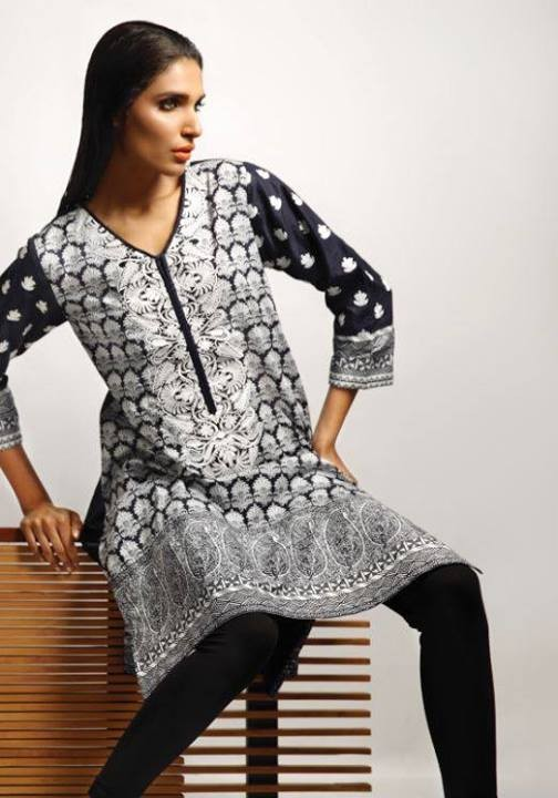 Khaadi-Black-and-White-Winter-Dresses-Collection-2013-For-women-2