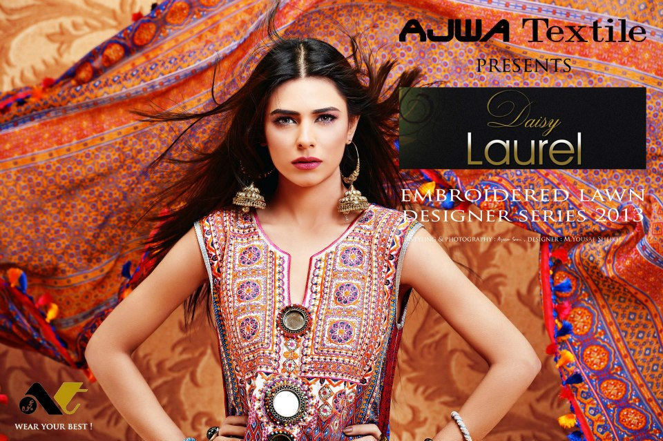 Western-Look-By-Ajwa-Lawn-Collection-2013