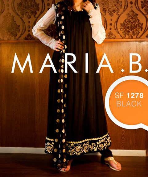 maria-b-eid-collection-2013-for-women-and-girls-black-and-white-dress