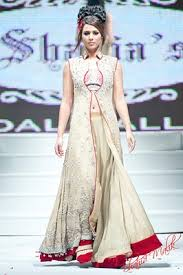 Pakistani open style gown dresses 2014
