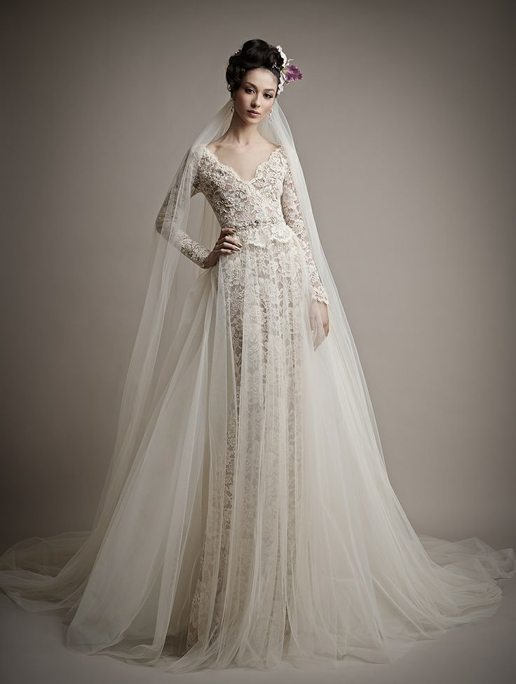 Modern-Wedding-Dresses-2015-With-Long-Sleeves-For-Brides