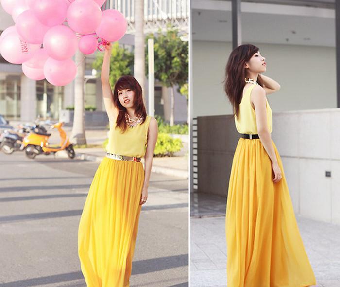 bright-yellow-maxi-skirt