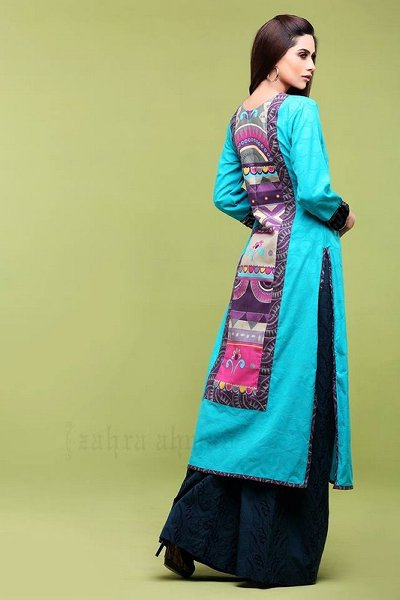 New-Elegant-Fashion-Long-Shirts-Palazzo-Dresses-Collection-2015-2