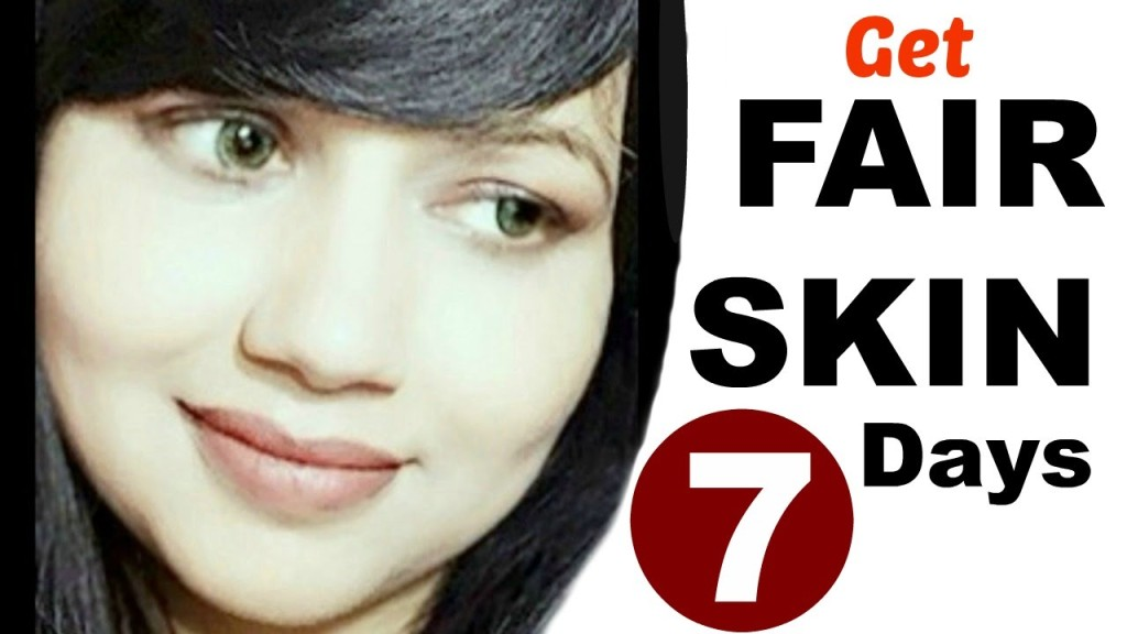 how to get fair skin in one day naturally