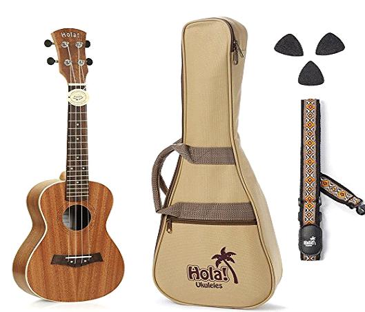 girls play ukulele