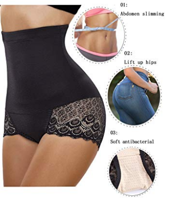 4a967f2b50f2c4 Gotoly Women Body Shaper High Waist Butt Lifter Tummy Control Panty Slim  Waist Trainer